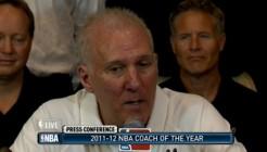 Gregg Popovich, Coach Of The Year