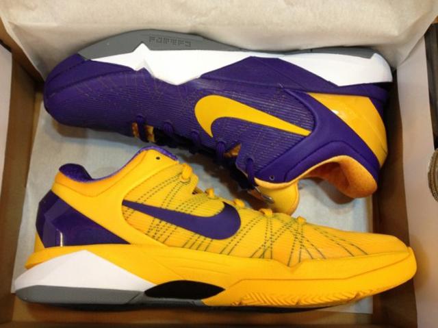 Laker Colored Basketball Shoes