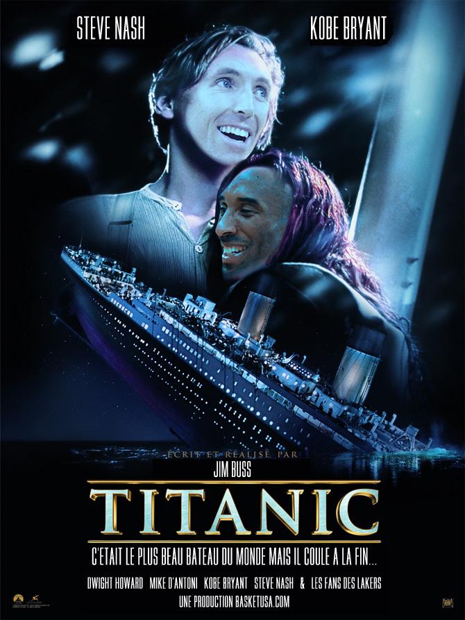 Parodie Titanic Version Los Angeles Lakers Basket USA