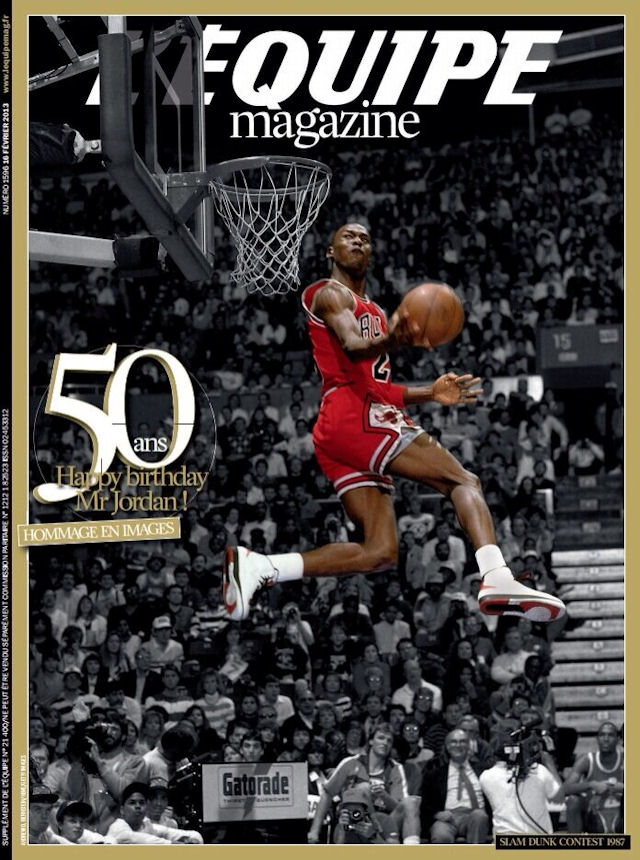 50 ans de michael jordan les unes de sports illustrated et l 39 equipe magazine basket usa. Black Bedroom Furniture Sets. Home Design Ideas