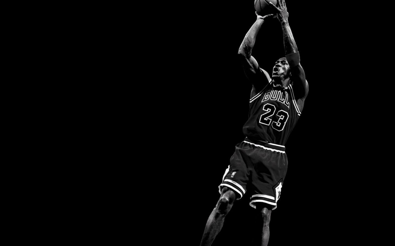 photo michael jordan noir et blanc