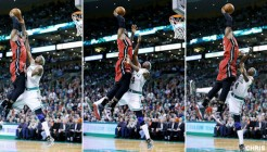 LeBron James sur Jason Terry