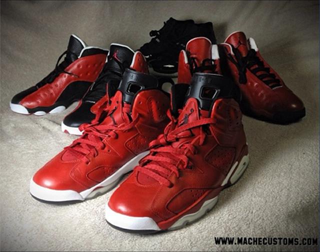 058357666a5c2d Chaussures   les Air Jordan Custom de Malcolm Thomas et Nate ...