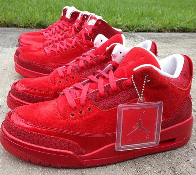 nouveau style 9de10 eb24e Jordan Brand : les Air Jordan I, II et III passent au rouge ...