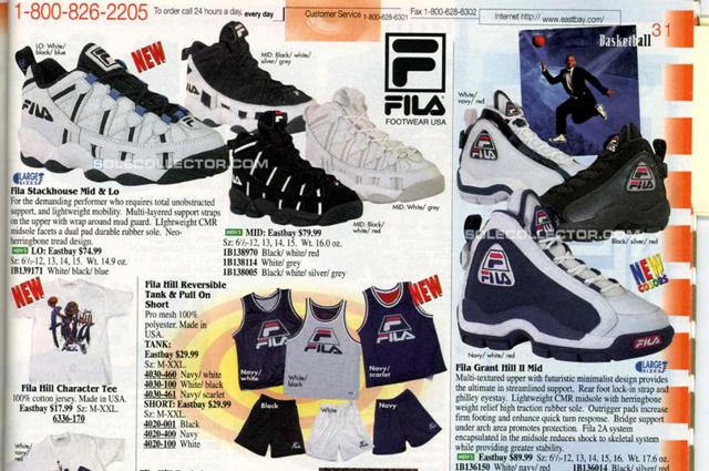 basket fila année 90