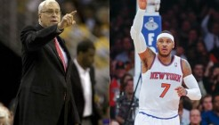 Phil Jackson et Carmelo Anthony