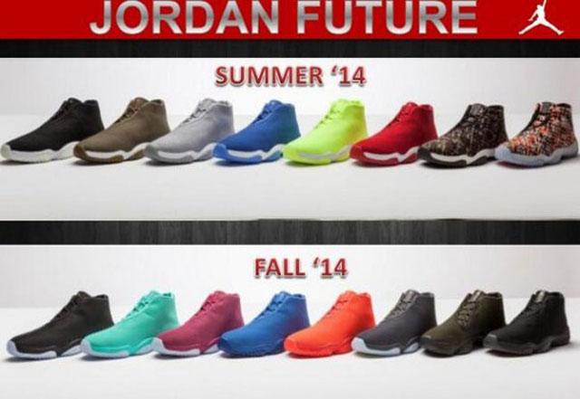magasin d'usine e9e75 0fae9 Jordan Brand : 16 coloris à venir pour la Jordan Future ...