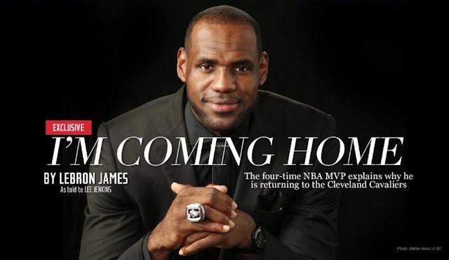 LeBron James revient aux Cavs