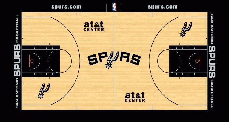 Un Immense Logo Sur Le Nouveau Parquet Des Spurs Basket Usa