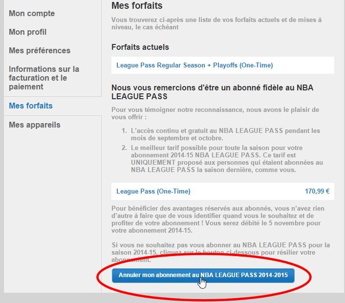 League Pass Comment Se Desabonner Ou Etre Rembourse Apres La