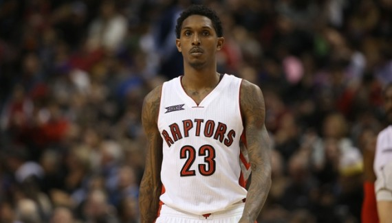 Nov 21, 2014; Toronto, Ontario, CAN; Toronto Raptors guard Lou Williams (23) against the Milwaukee Bucks at Air Canada Centre. The Raptors beat the Bucks 124-83. Mandatory Credit: Tom Szczerbowski-USA TODAY Sports