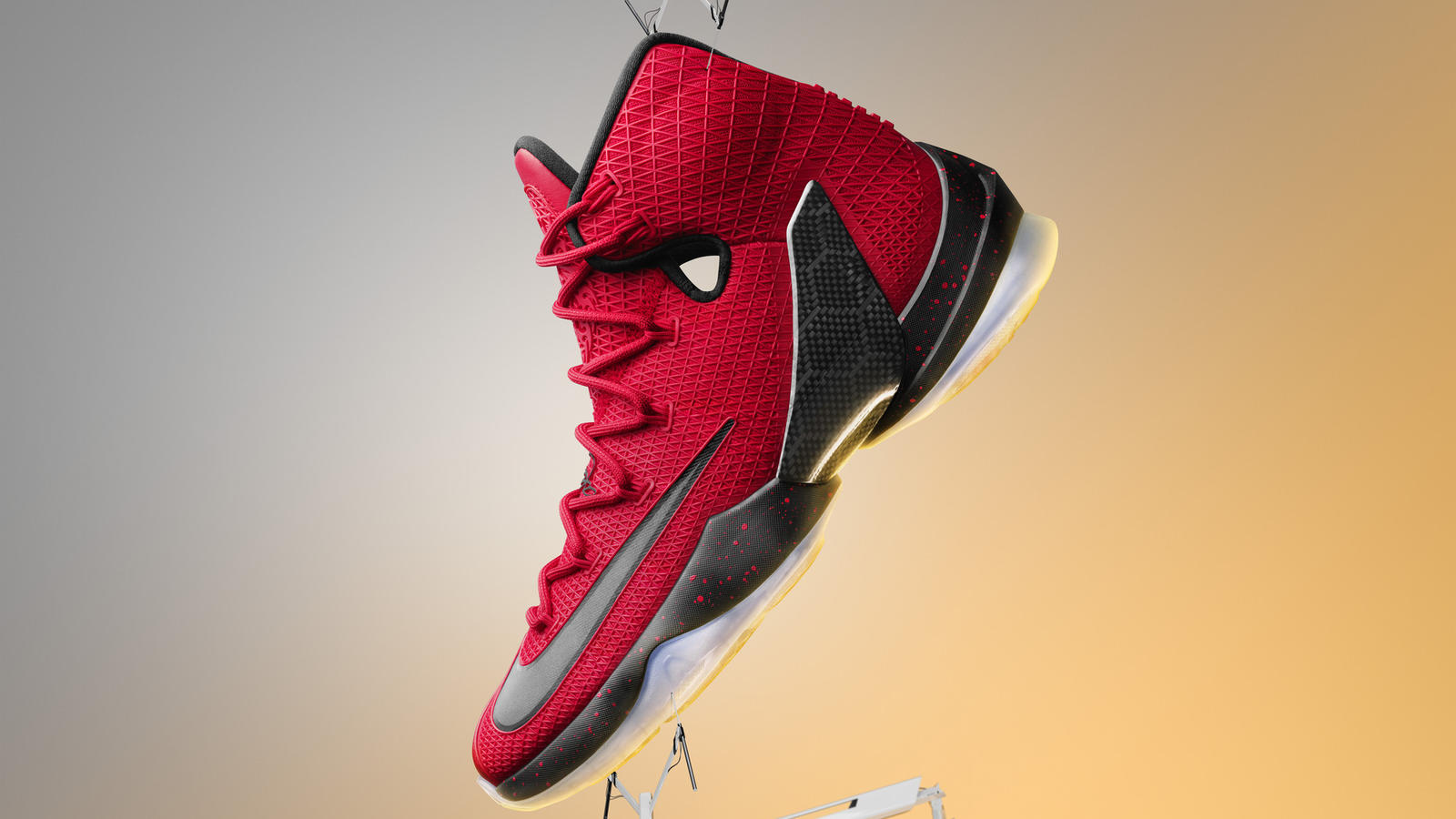 Red And Black Lebron  Shoes