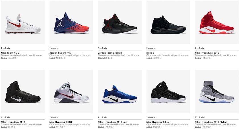 chaussures de basket nike modelè 2016