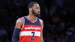 27 January 2015: Washington Wizards guard John Wall (2) is seen during the Washington Wizards 98-92 victory over the Los Angeles Lakers, at the Staples Center, Los Angeles, California, USA.