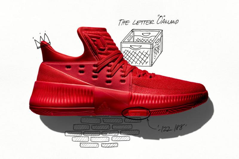 adidas lillard 3 rouge 1