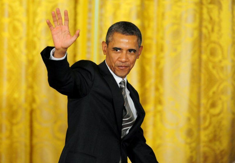 Les adieux du couple Obama — Maison-Blanche