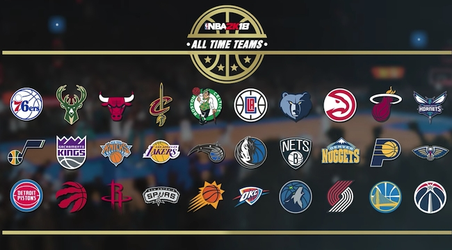 9e88620b1e5 2K Sports a révélé les effectifs complets des All-Time Teams de NBA 2K18