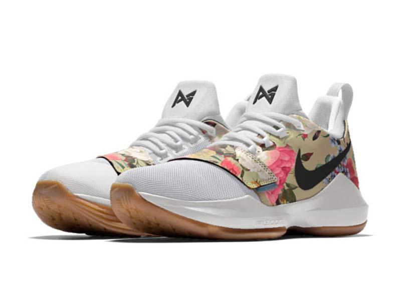 basket nike a fleur