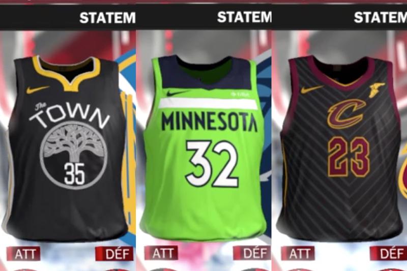 fea0831b Les trente franchises NBA auront quatre tuniques différentes la saison  prochaine et grâce à NBA 2K18, qui sort demain, on en sait un peu plus sur  les ...