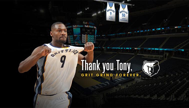Le maillot de Tony Allen sera retiré par Memphis