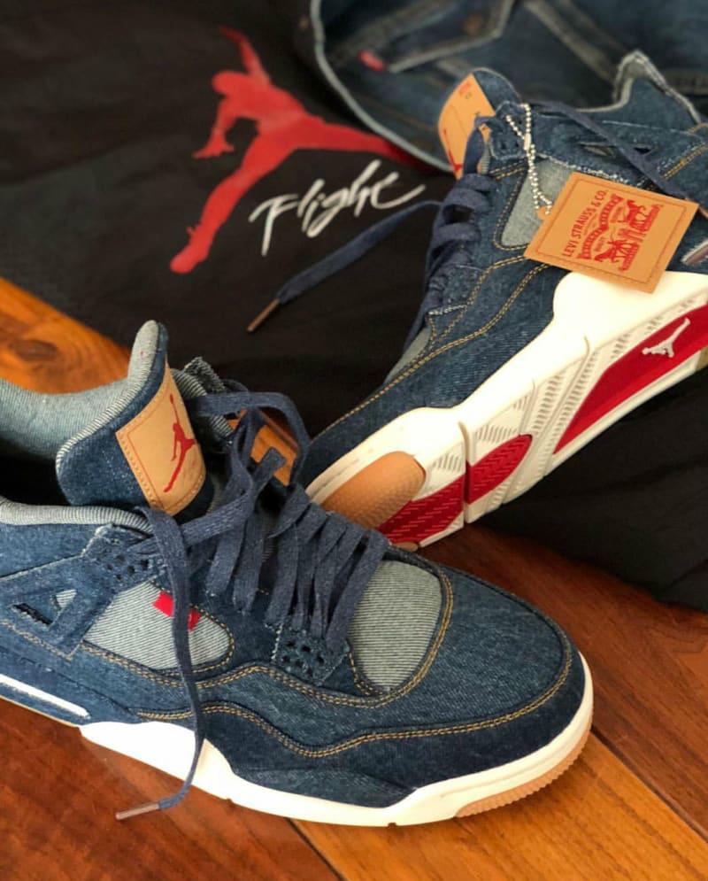 Prochain partenaire : Levi's. Sur Instagram, c'est le skateur Eric Koston a  qui a dévoilé les premières images nettes de la Air Jordan 4 habillée par  ...