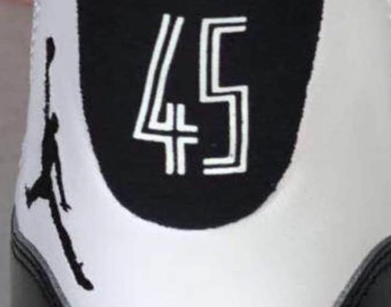nouvelles photos 54251 da1cc La Air Jordan 11 va faire son retour avec le numéro 45 ...