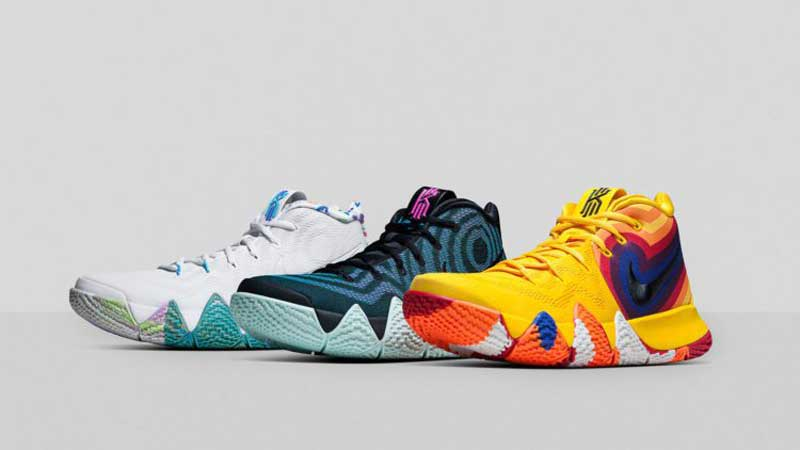 c0f4890e8ecb Nike   trois coloris de la Kyrie 4 pour trois décennies