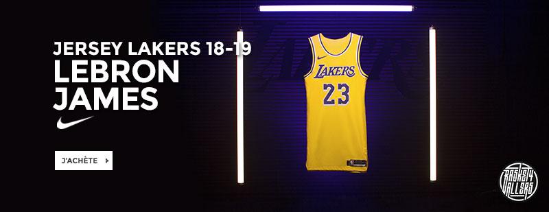 473833312c45e0 Commandez chez B4B le nouveau Jersey Lakers 18-19 Lebron James hommage à la  génération Showtime de Magic Johnson. La livraison est offerte.