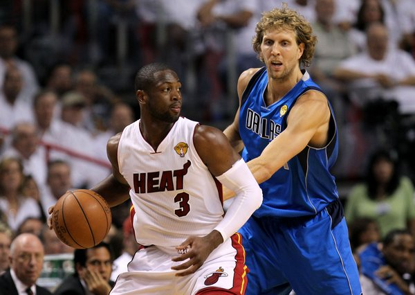 Image result for wade and nowitzki