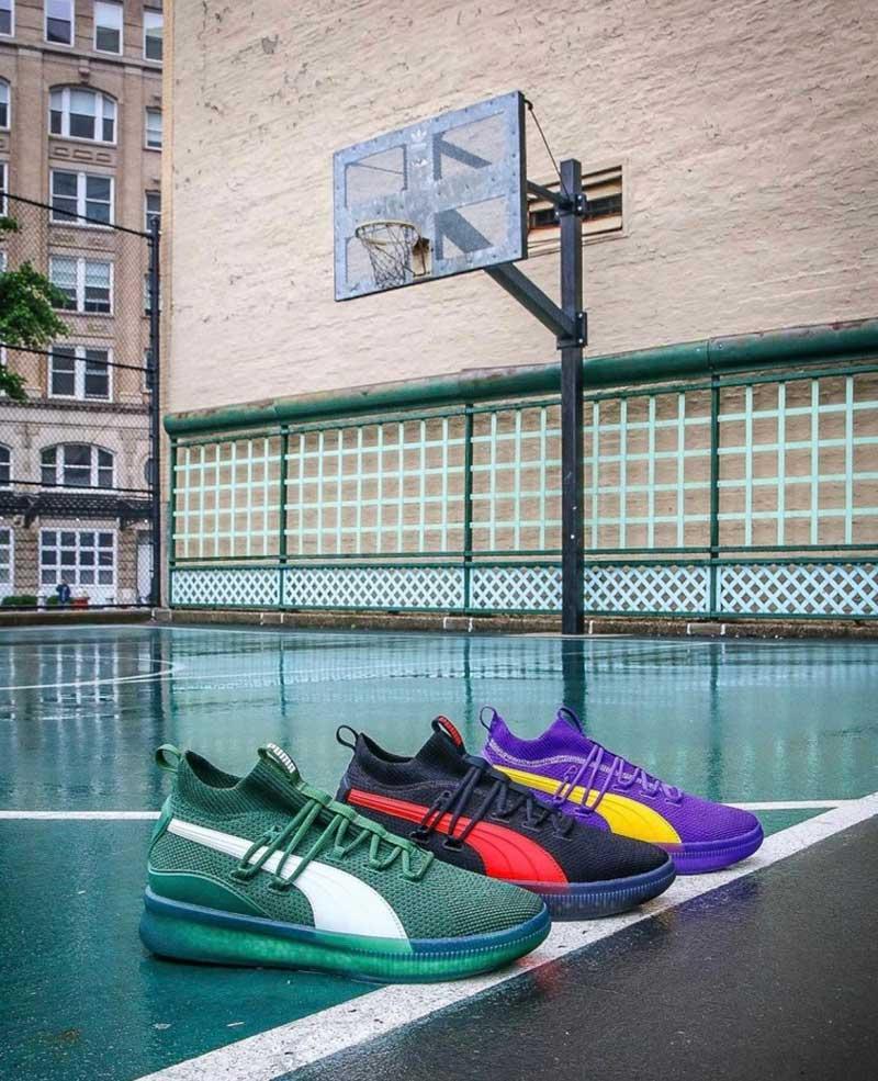 pas cher pour réduction 4d290 5bb44 Puma : la Clyde Court Disrupt aux couleurs des Lakers et des ...