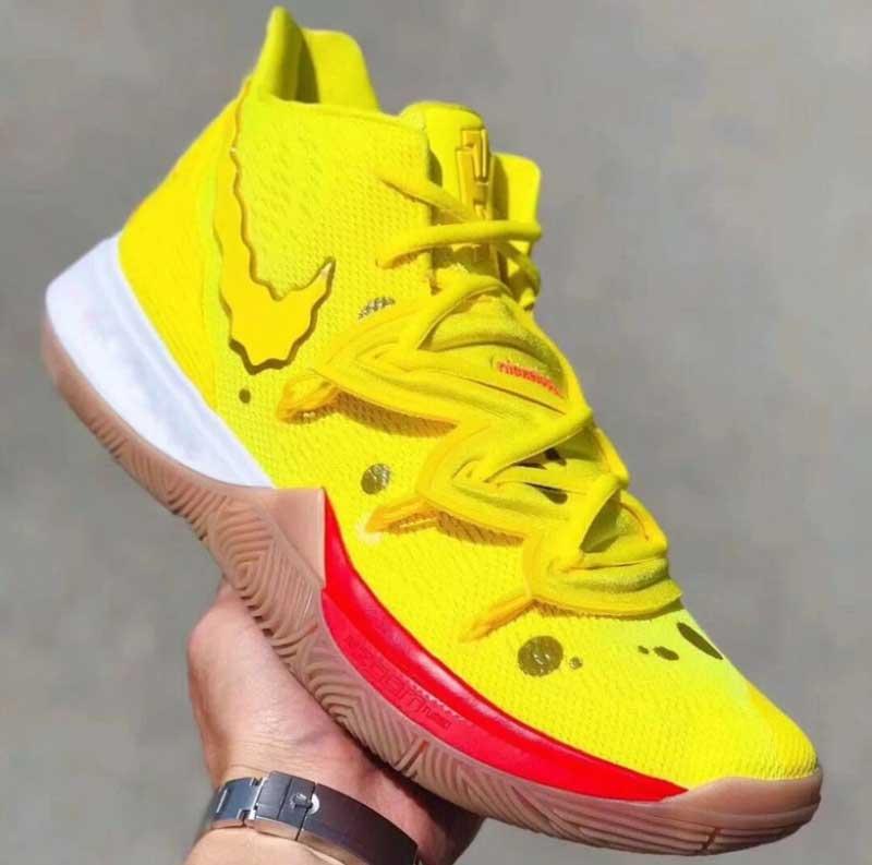 Nike : deux Kyrie 5 aux couleurs de Bob l'éponge | Basket USA