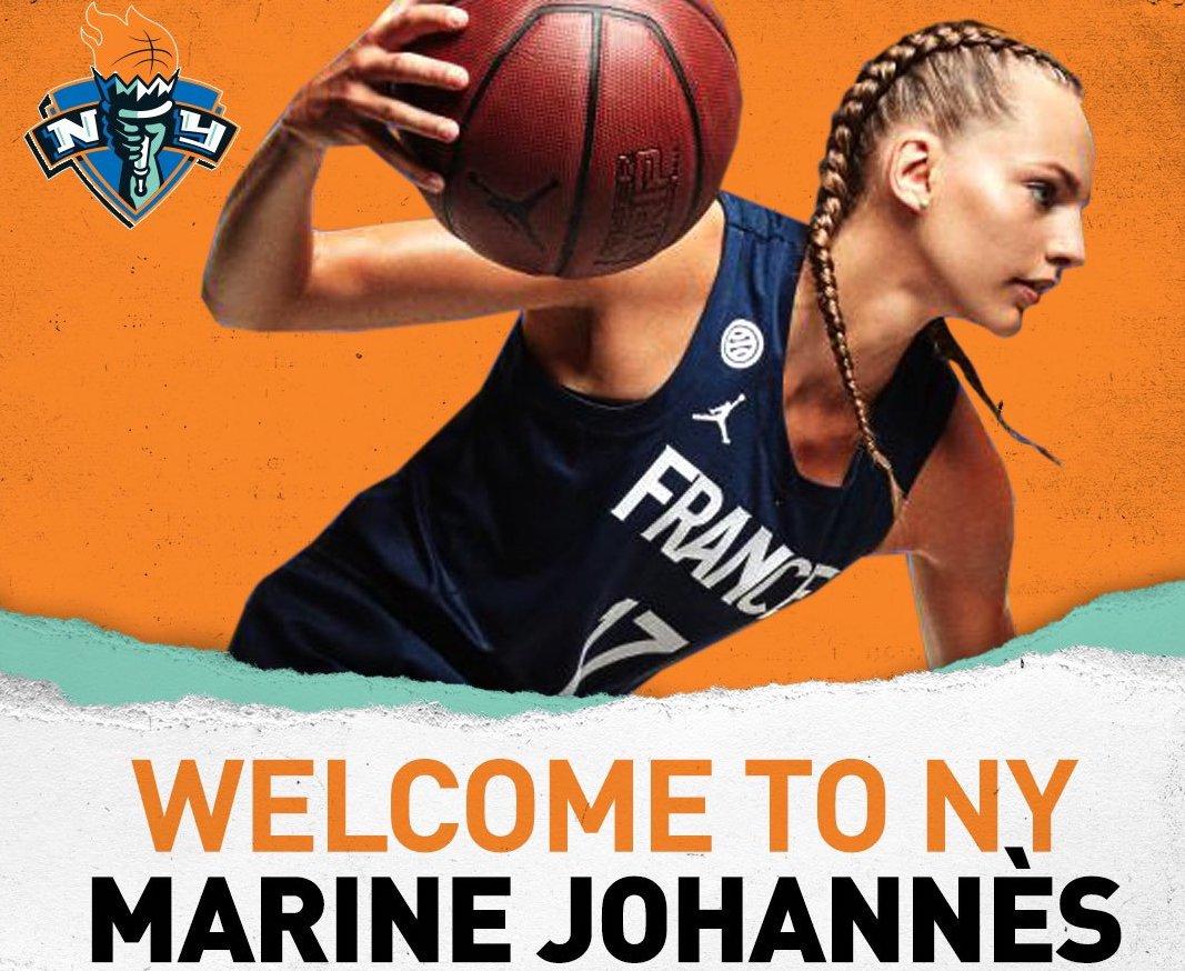 07346a0b0172e Le championnat d'Europe à peine terminé, Marine Johannes a pris le premier  avion pour les Etats-Unis pour effectuer ses débuts avec le Liberty en WNBA.