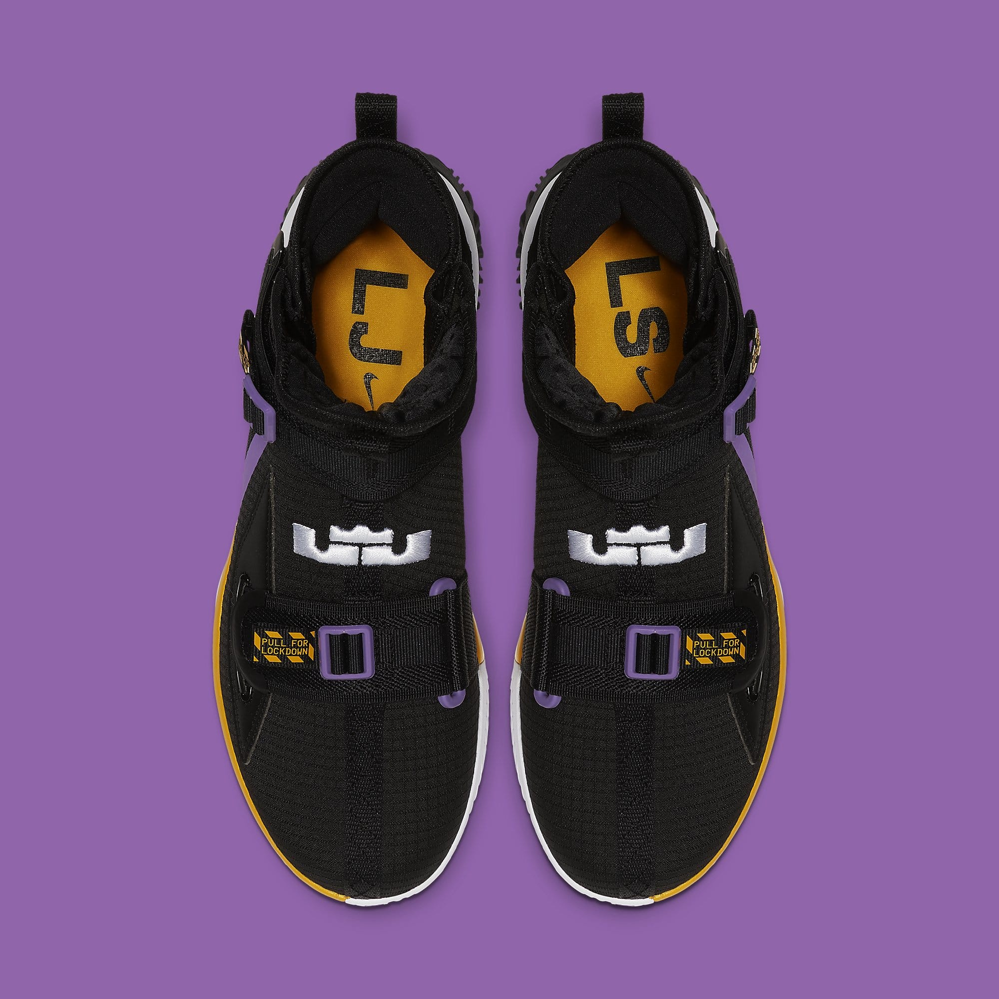 wholesale dealer 12c24 7c88f Nike LeBron Soldier 13 Lakers Release Date AR4228-004 Pair   Sole Collector