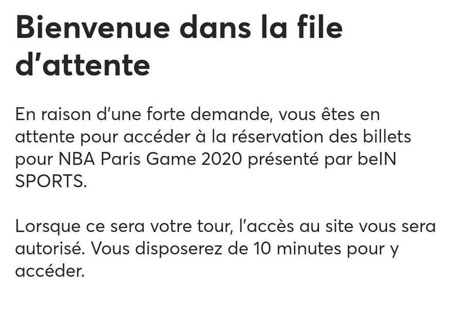 Le Nba Paris Game 2020 Le Parcoursup Du Fan De La Nba